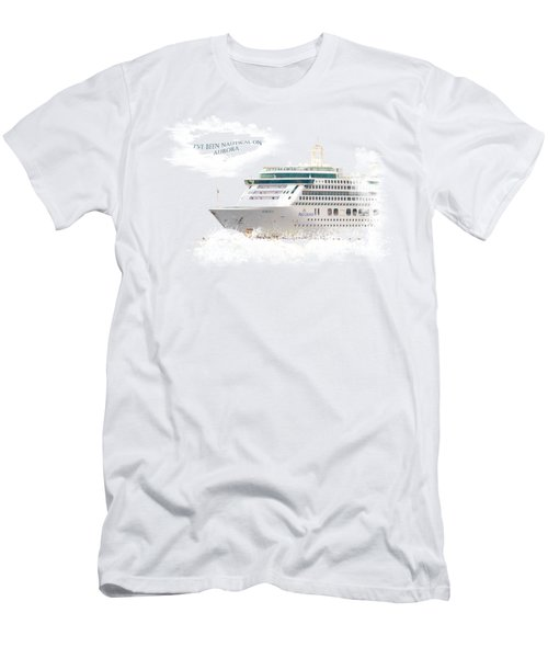 I've Been Nauticle On Aurora On Transparent Background Men's T-Shirt (Slim Fit) by Terri Waters