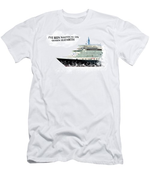 I've Been Nauticle On Queen Elizabeth On Transparent Background Men's T-Shirt (Slim Fit) by Terri Waters