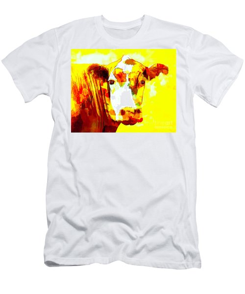 Yellow Cow Men's T-Shirt (Athletic Fit)