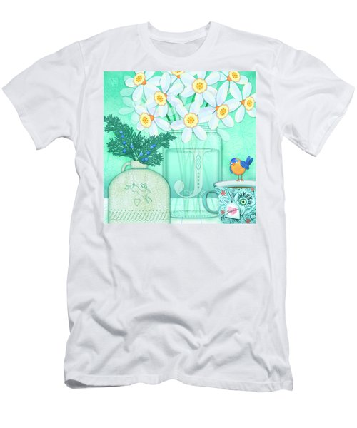 J Is For Jar Of Jonquils Men's T-Shirt (Athletic Fit)