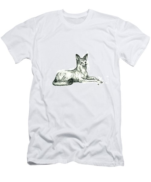 Jackal Sketch Men's T-Shirt (Athletic Fit)