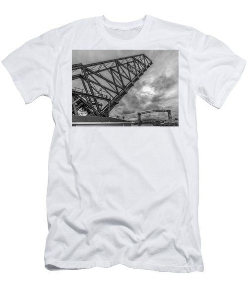 Jackknife Bridge To The Clouds B And W Men's T-Shirt (Athletic Fit)