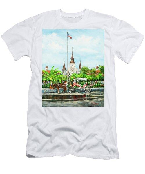 Jackson Square Carriage Men's T-Shirt (Athletic Fit)