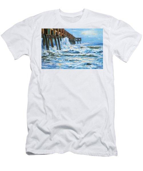 Jacksonville Beach Pier Men's T-Shirt (Athletic Fit)