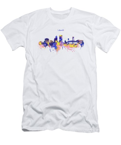 Jacksonville Skyline Silhouette Men's T-Shirt (Athletic Fit)