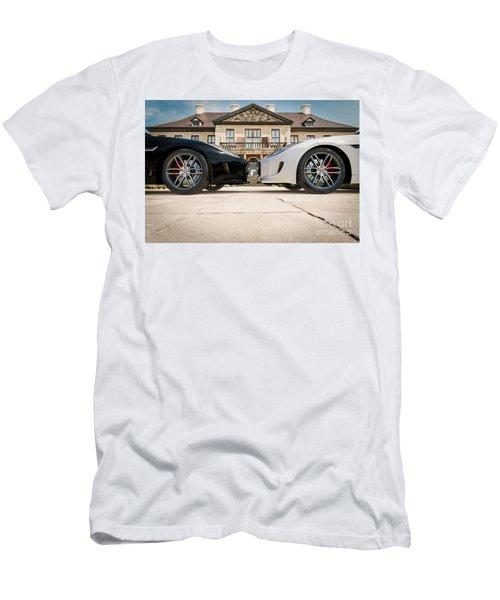 Jaguar F-type - Black And White Men's T-Shirt (Athletic Fit)