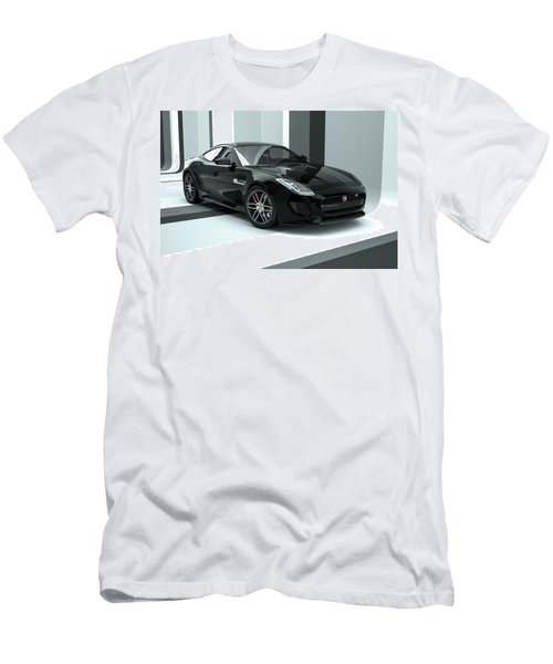 Jaguar F-type - Black Retro Men's T-Shirt (Athletic Fit)