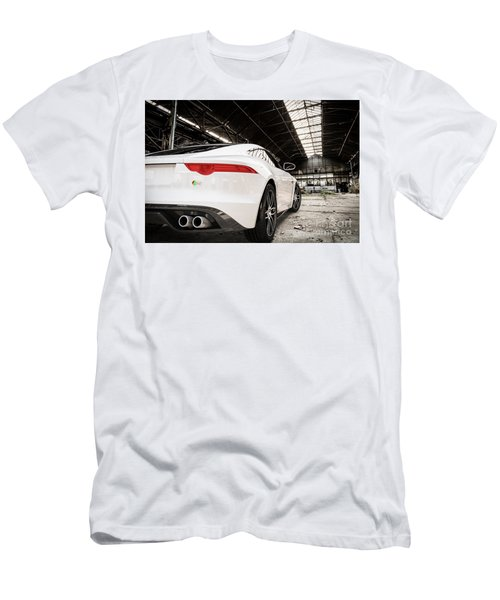 Jaguar F-type - White - Rear Close-up Men's T-Shirt (Athletic Fit)