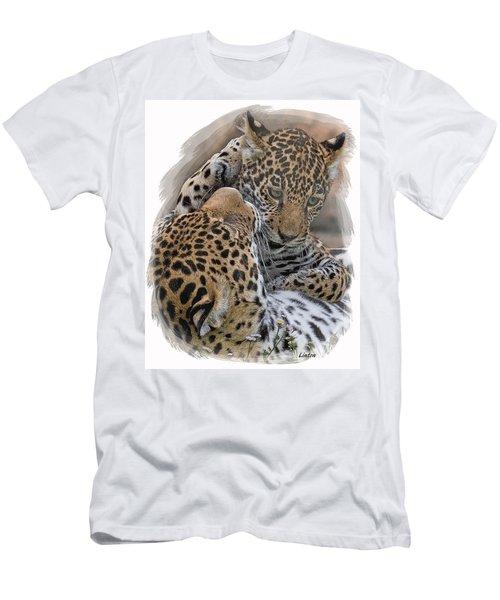 Jaguar Mother And Cub 4 Men's T-Shirt (Athletic Fit)