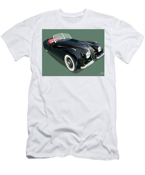 Jaguar Xk 120 Illustration Men's T-Shirt (Slim Fit) by Alain Jamar