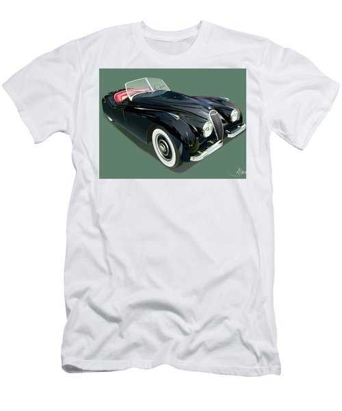 Jaguar Xk 120 Illustration Men's T-Shirt (Athletic Fit)