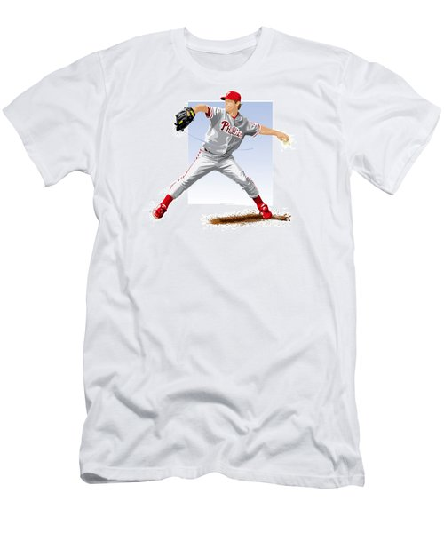 Jamie Moyer Men's T-Shirt (Slim Fit) by Scott Weigner
