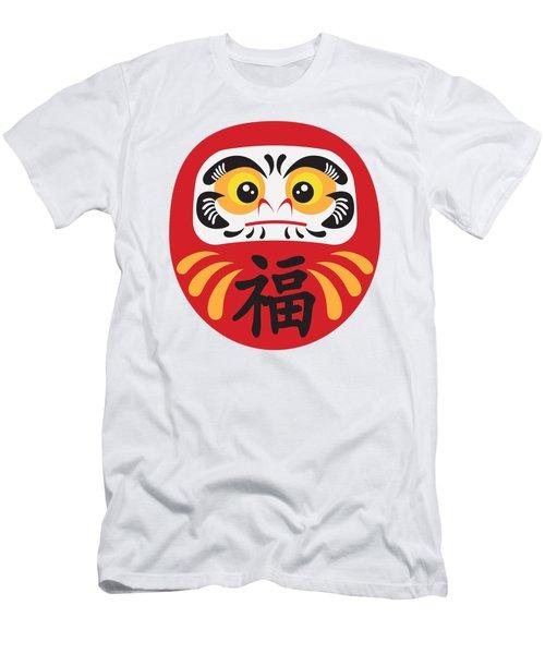 Japanese Daruma Doll Illustration Men's T-Shirt (Slim Fit) by Jit Lim