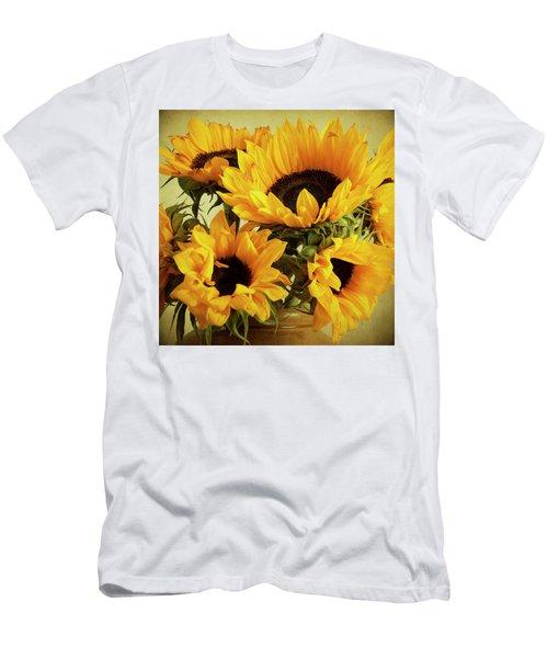Jar Of Sunflowers Men's T-Shirt (Athletic Fit)