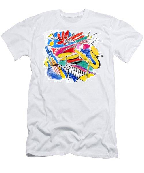 Jazz Art Men's T-Shirt (Athletic Fit)