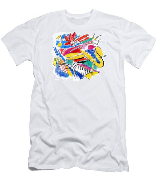 Jazz Art Men's T-Shirt (Athletic Fit)