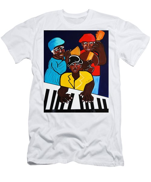 Jazz Sunshine Band Men's T-Shirt (Slim Fit) by Nora Shepley
