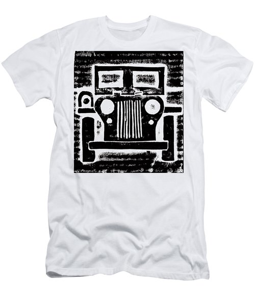 Men's T-Shirt (Slim Fit) featuring the mixed media Jeep by Jame Hayes