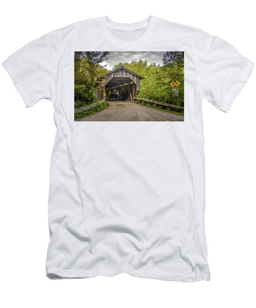 Jeffersonville Covered Bridge Men's T-Shirt (Athletic Fit)