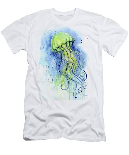 Jellyfish Watercolor Men's T-Shirt (Athletic Fit)