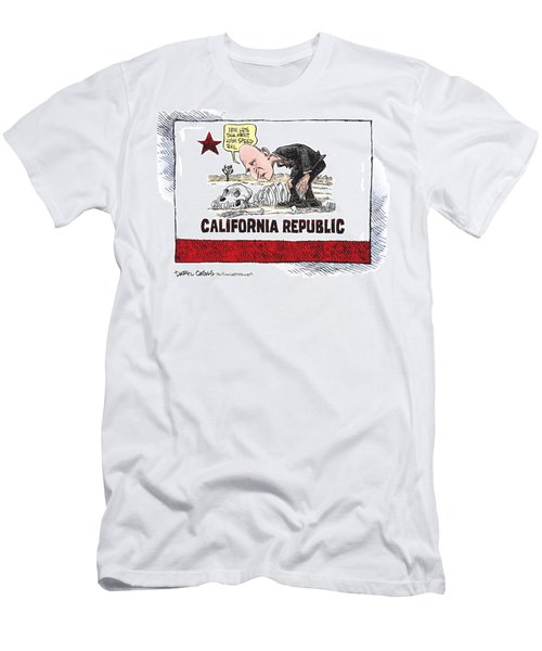Jerry Brown - California Drought And High Speed Rail Men's T-Shirt (Athletic Fit)