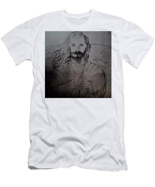 Jesus Light Of The World Full Men's T-Shirt (Athletic Fit)