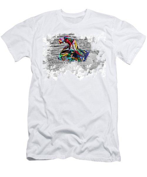 Jet Ski On Transparent Background Men's T-Shirt (Slim Fit) by Terri Waters