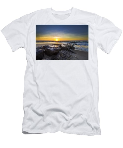Jetty Four Sunrise Men's T-Shirt (Athletic Fit)