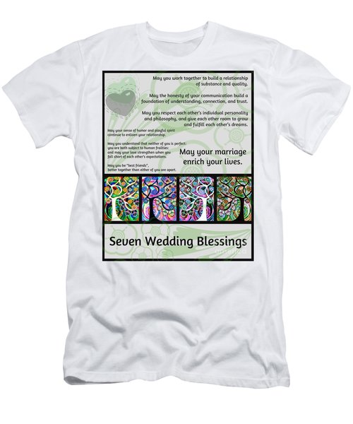 Jewish Seven Wedding Blessings Tree Of Life Hamsas Men's T-Shirt (Athletic Fit)