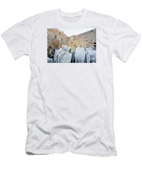 Jewish Sunrise Prayers At The Western Wall, Israel 10 Men's T-Shirt (Athletic Fit)