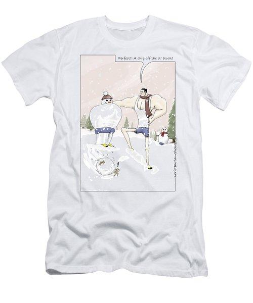 Jim Builds A Snowman Men's T-Shirt (Athletic Fit)