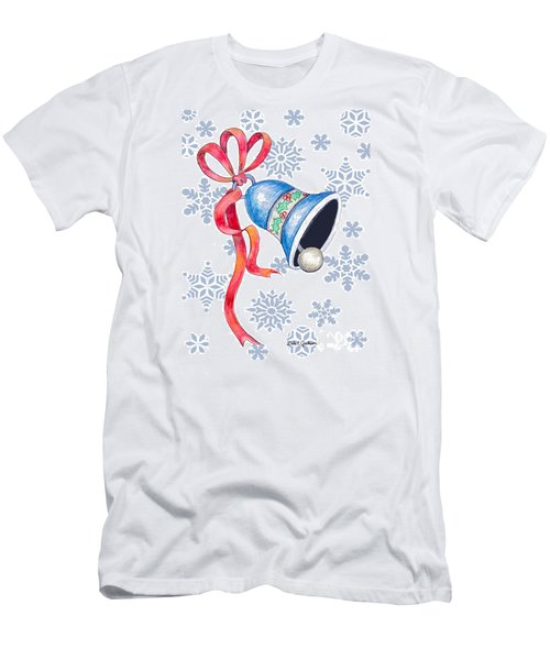 Jingle Bells And Snowflakes On Christmas Day Men's T-Shirt (Athletic Fit)