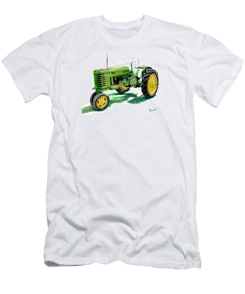 Men's T-Shirt (Slim Fit) featuring the painting John Deere Tractor by Ferrel Cordle