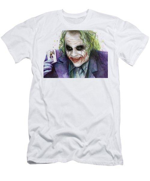 Joker Watercolor Portrait Men's T-Shirt (Athletic Fit)