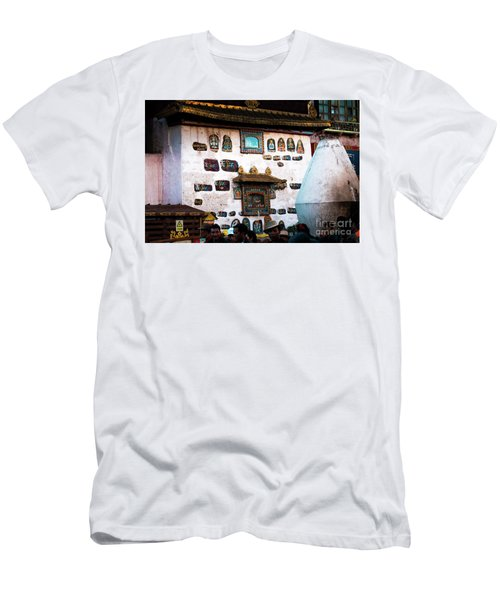 Jokhang Temple Wall Lhasa Tibet Artmif.lv Men's T-Shirt (Athletic Fit)