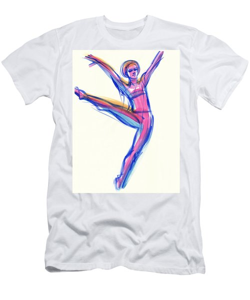 Men's T-Shirt (Athletic Fit) featuring the painting Joy by Judith Kunzle