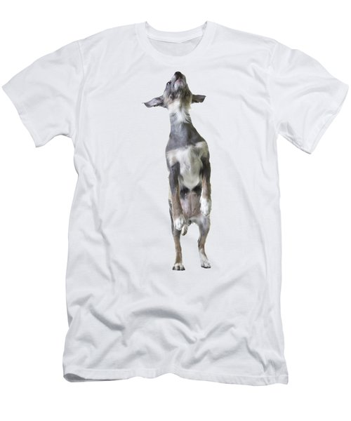 Jumping Dog Tee Men's T-Shirt (Athletic Fit)