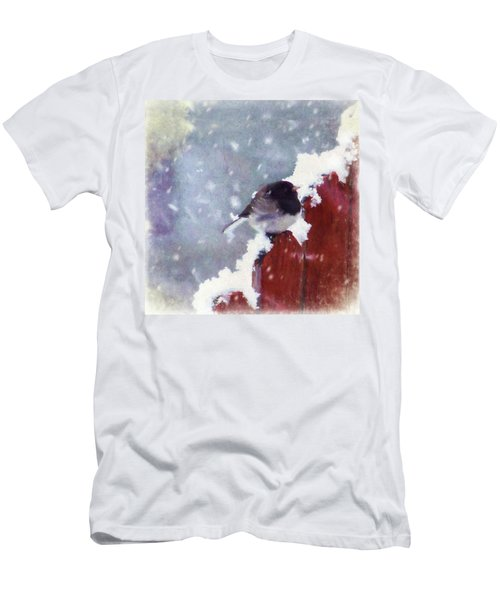 Junco In The Snow, Square Men's T-Shirt (Athletic Fit)