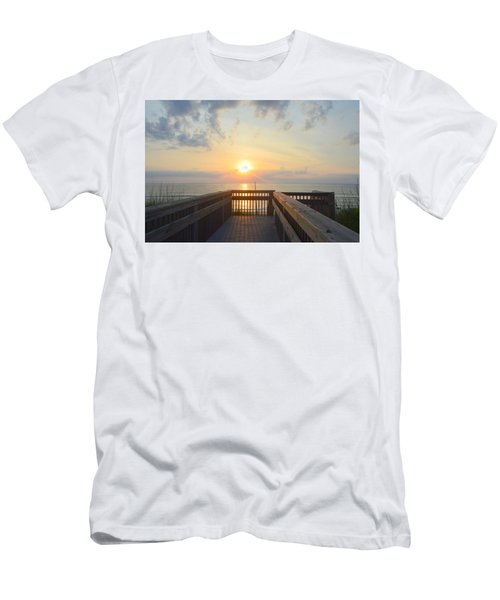Men's T-Shirt (Athletic Fit) featuring the photograph June 17th Sunrise by Barbara Ann Bell