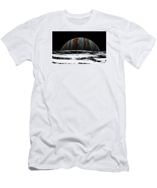 Jupiter Rise At Europa Men's T-Shirt (Athletic Fit)