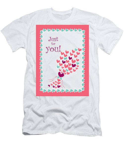 Just For You Men's T-Shirt (Slim Fit) by Hye Ja Billie