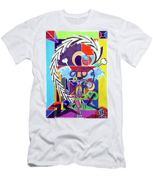 Men's T-Shirt (Athletic Fit) featuring the painting Just Me, Myself And Eye by Rufus J Jhonson