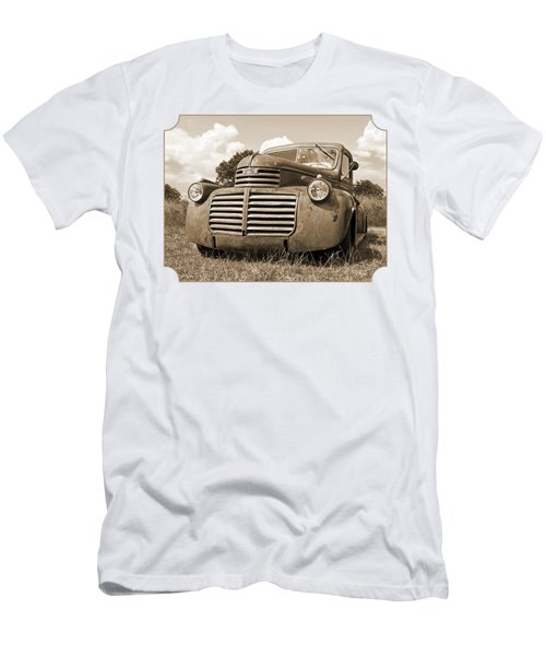 Just Resting - Vintage Gmc Truck In Sepia Men's T-Shirt (Athletic Fit)