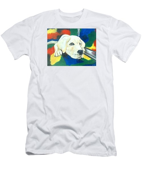 Just Waiting Men's T-Shirt (Slim Fit) by Jenny Pickens