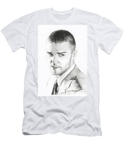 Justin Timberlake Drawing Men's T-Shirt (Athletic Fit)
