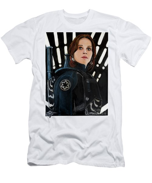 Jyn Erso Men's T-Shirt (Slim Fit) by Tom Carlton