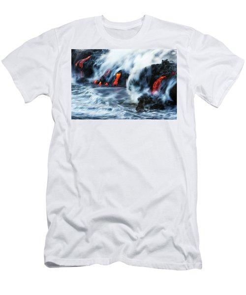 Kamokuna Lava Ocean Entry, 2016 Men's T-Shirt (Athletic Fit)