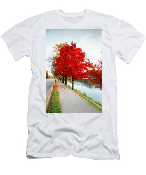 Kanawha Boulevard In Autumn Men's T-Shirt (Athletic Fit)
