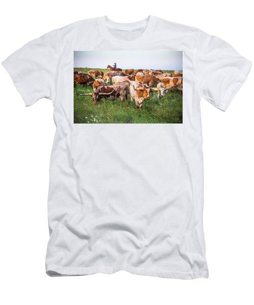 Kansas Flint Hills Longhorns Men's T-Shirt (Athletic Fit)