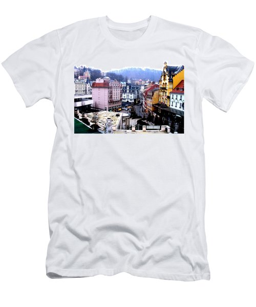 Men's T-Shirt (Athletic Fit) featuring the photograph Karlovy Vary Cz by Michelle Dallocchio